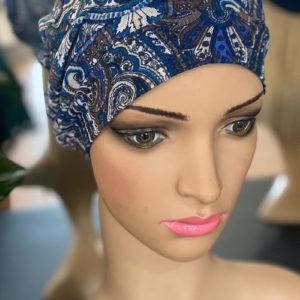 Blue Paisley Cap