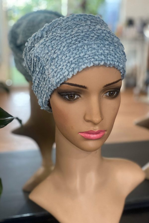 Blue Scallop Cap