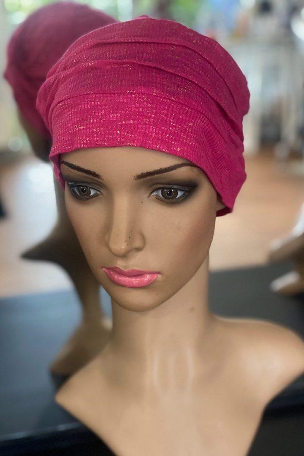 Pink Glitter Cap