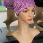 Purple Shimmery Mermaid Cap